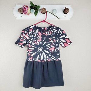 Gymboree Floral Short Sleeves Flared Dress